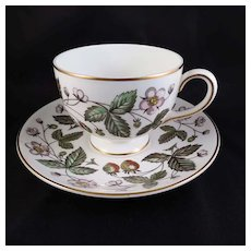 Vintage Wedgwood Bone China STRAWBERRY HILL Cup & Saucer Set