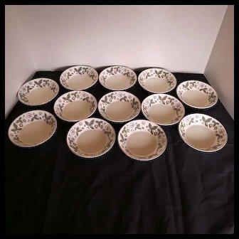 Vintage Wedgwood Bone China STRAWBERRY HILL 12 Fruit/Dessert (Sauce Bowls)
