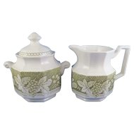 Somerset by Kensington Staffords Creamer & Sugar Bowl, Ironstone England