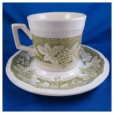 Somerset by Kensington Staffords Cup & Saucer Set, Ironstone England