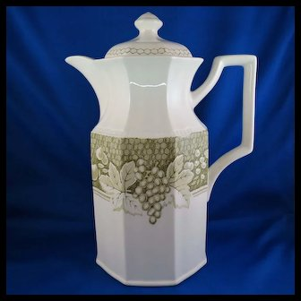 Somerset by Kensington Coffee Pot with Lid, Ironstone England