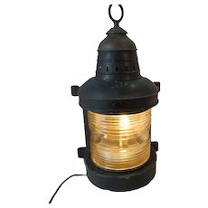 Large Galvanized Metal Masthead Light Manufactured by Wilcox Crittenden & Company