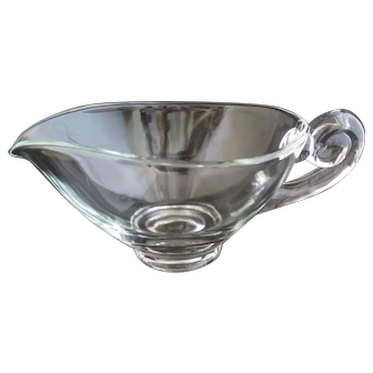 Vintage Indiana Glass Clear Sauce Gravy Boat