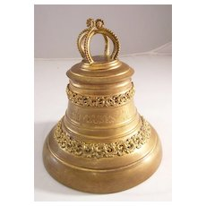 Antique French Gilded Metal Bell Trinket Box - Easter gift - Unique!