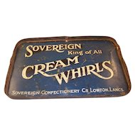 English Advertising Piece - Tin- Cream Whirls candy