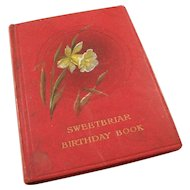 Vintage 1915 English Birthday Reminder Book - Sweetbriar