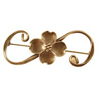 Charming Sterling Brooch - Flower