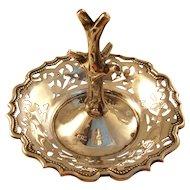 Antique Edwardian Sterling Silver Ring Stand or Holder - 1901 - Henry Manton