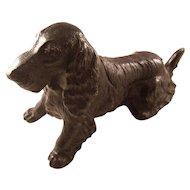 Fantastic Figural Dog Spaniel Lighter and Ashtray Combination - early 20th century
