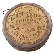 English Victorian Advertising Celluloid Tape Measure - Sewing