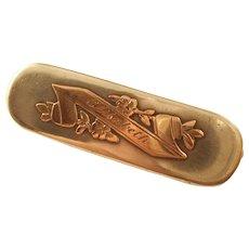 """Antique Edwardian Sterling Name Brooch Bar Pin - """"Elisabeth""""  1903"""