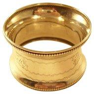 Sterling Napkin Ring - English, 1921