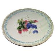 Lovely Vintage Majolica Plate - Grapes