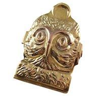 Charming Vintage Owl desk clip - English