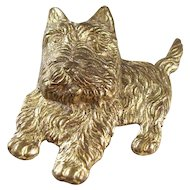 Sweet Vintage Scotty Scottie Dog Brooch - 1930's