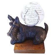 Whimsical Antique Scottie Scotty Dog Figural Menu Holder