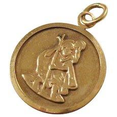 Vintage St. Christopher Medal - 9kt gold - Patron of Travelers
