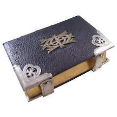 Victorian Leather Bound Anglican Book of Common Prayer - English, Silver Mounts