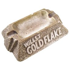 Vintage British Gold Flake Cigarettes Advertising Ashtray - Pub Piece