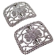 Gorgeous pair of Edwardian Cut Steel Shoe Buckles - fantastic condition