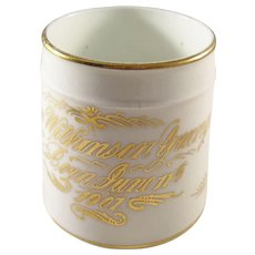 Charming Edwardian Porcelain Christening Cup with Inscription - English, 1901