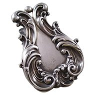 Fantastic Vintage Sterling Silver Desk Clip - very fancy
