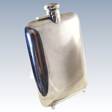 Stylish vintage Sterling Silver Flask - Simple and Elegant