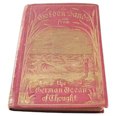 Victorian Miniature Book - Golden Sands from the German Ocean of Thought - 1886
