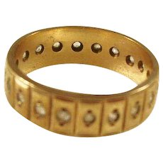 Vintage 9ct gold Eternity Band w/diamonds - Size 7