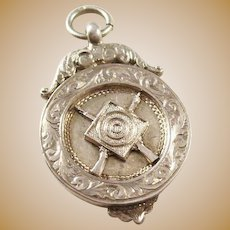 Sterling Silver Watch Fob - Shooting Award - English, 1921