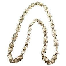 Victorian Fancy Link Chain - Human Head Links - Silverplate - ca. 1900