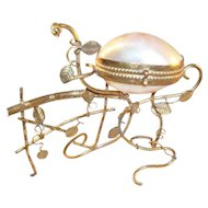 Antique French Palais Royal Gilt Ormolu Sewing Etui or Jewel Casket
