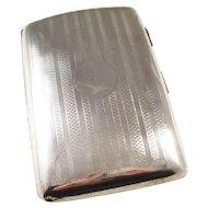 Handsome Sterling Silver Cigarette Case - London, 1912
