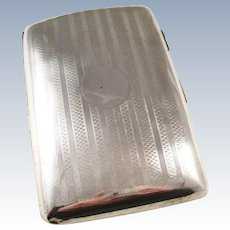 Handsome Sterling Silver Cigarette Case - London, 1912