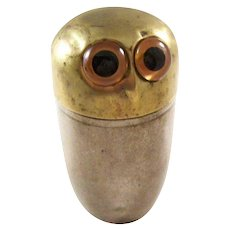 Wonderful Hoot Owl Jigger Holder - English Trench Art, ca. 1910