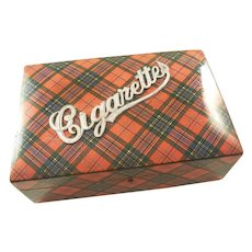 Fabulous Antique Tartan Ware Cigarette Box - McLean Tartan