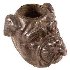 Wonderful Victorian Bull Dog Match Holder - Great Detail