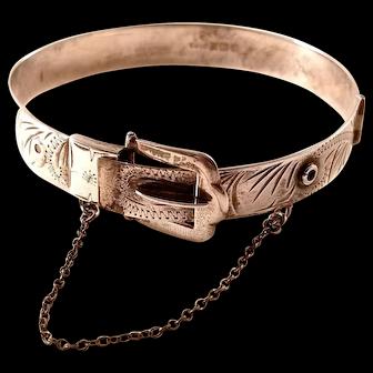 Vintage Victorian Revival Excalibur Sterling Buckle Bracelet - lovely!