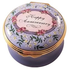 Halcyon Days Enamel Box - Happy Anniversary - Sweet!