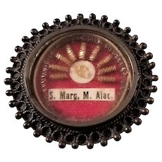 First Class Relic in Theca - St. Margaret Mary Alacoque, Saint of the Sacred Heart