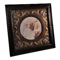 Fantastic Antique Oak Arts and Crafts Era Photo Frame - English