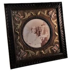 Fantastic Antique Oak Arts and Crafts Era Photo Frame - English