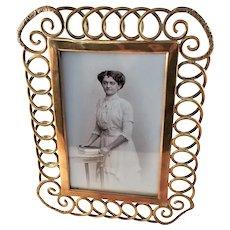 Antique Victorian Brass Wedding Ring Frame - ca. 1890