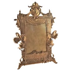 Great Victorian Brass Photo Frame with Aesthetic Motif