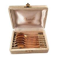 Vintage Cased Set of Christofle Demi-Tasse Spoons