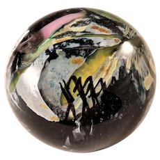 Vintage Signed Mark Russell Paperweight