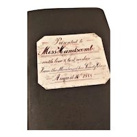 1888 Leather Personal Bible with Presentation Inscription - English