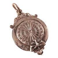 Vintage Sterling Silver Watch Fob Award - DARTS