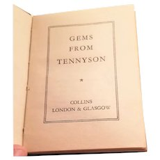 Miniature Book - Gems from Tennyson - English, early 20th century