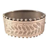 Antique Sterling Victorian Aesthetic Bangle Bracelet - Gorgeous